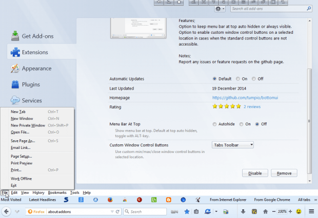 Firefox toolbar4