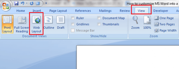 Minimalist MS Word 2007 b