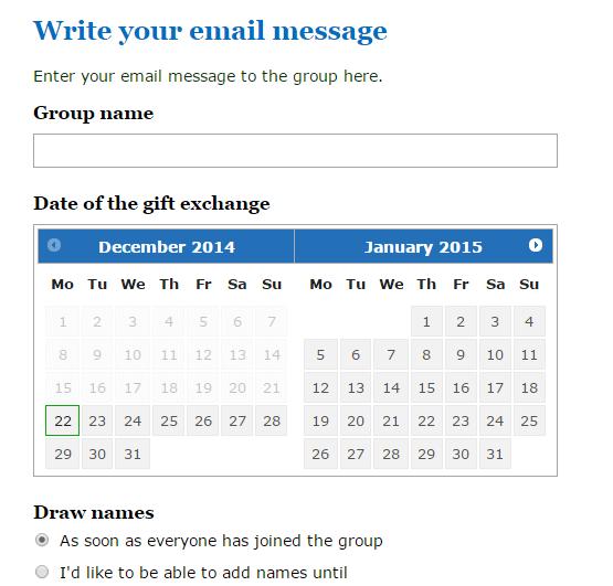 Online Secret Santa Generator c