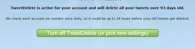automatically delete posts in Twitter b