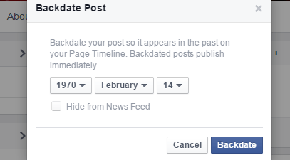 backdate post in Facebook c