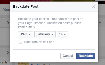 backdate post in Facebook c