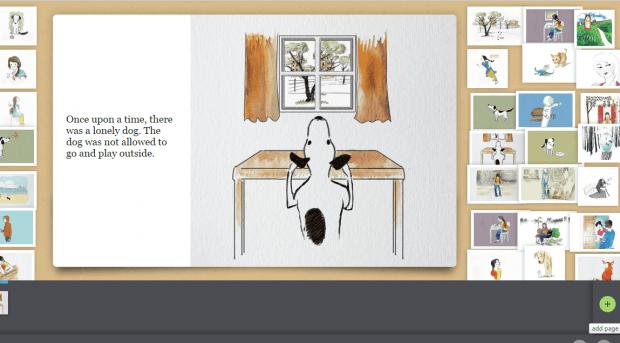 create a digital story book in Chrome d
