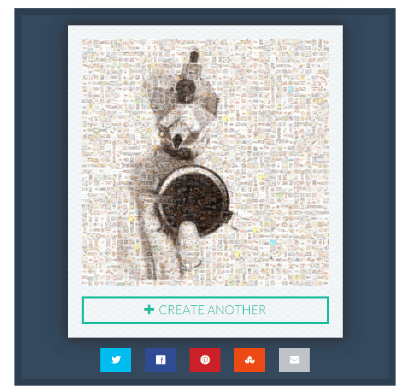create mosaic out of Instagram photos e