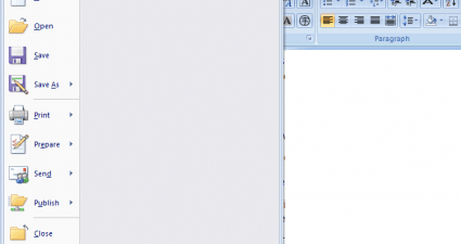 how to clear recent documents list in MS Word 2007 c