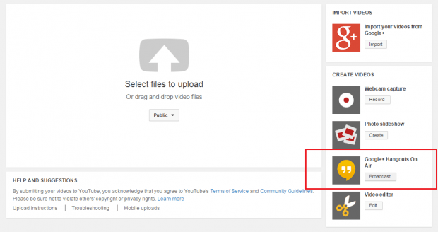 live video streaming in YouTube b