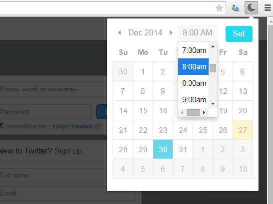 snooze tabs in Chrome b