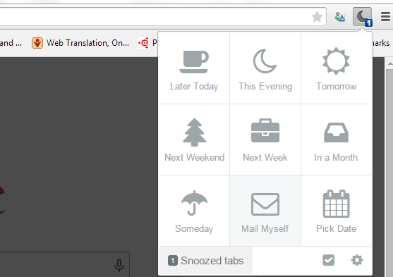 snooze tabs in Chrome c