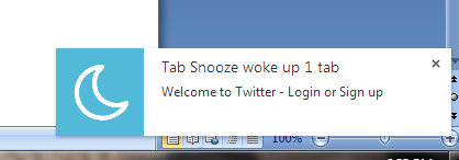 snooze tabs in Chrome e