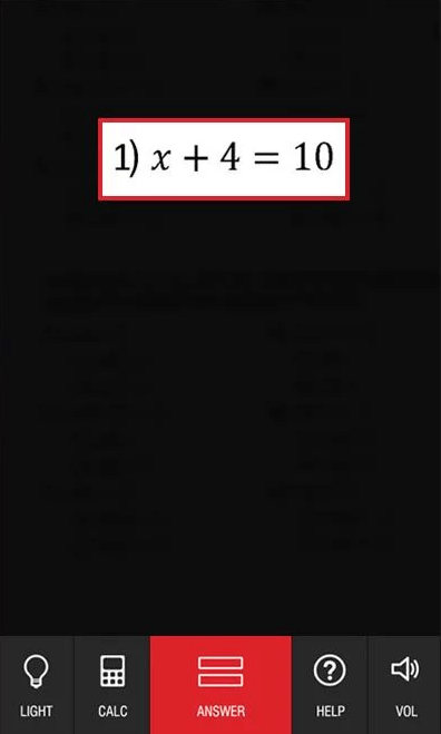 solve math problems by taking a photo Android
