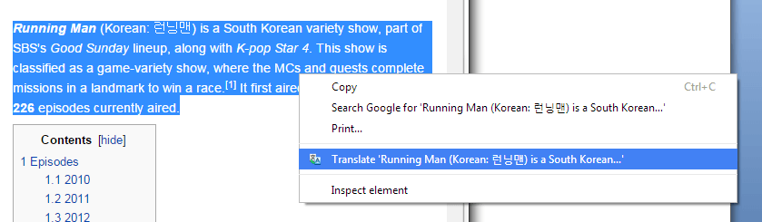 How to add a translate option to right-click menu in Chrome [Tip