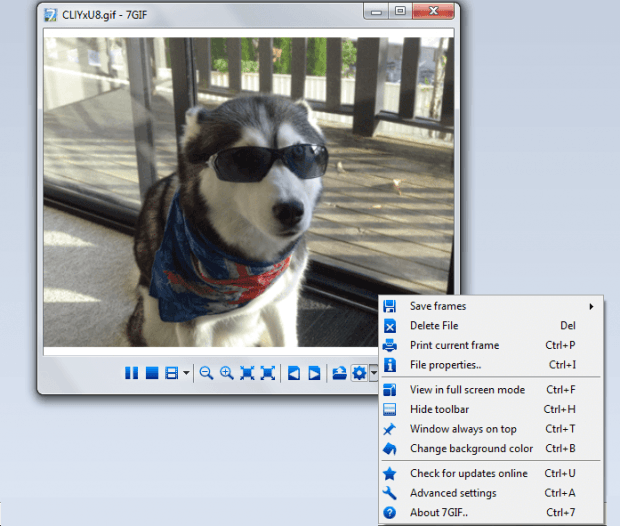 view animated GIFs in Windows b