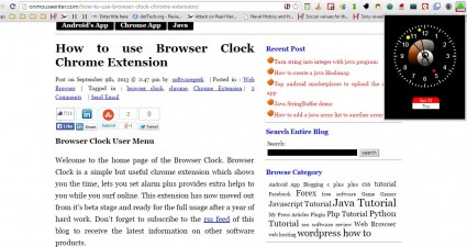 Browser Clock6