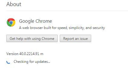 Chrome updates