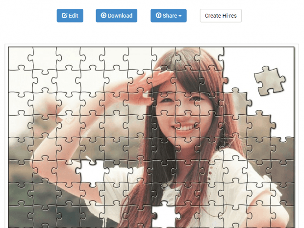Create photo puzzles online c