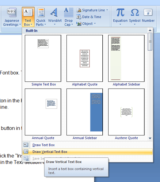 How To Draw Text Box In Word