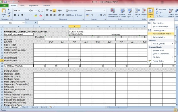 Excel document