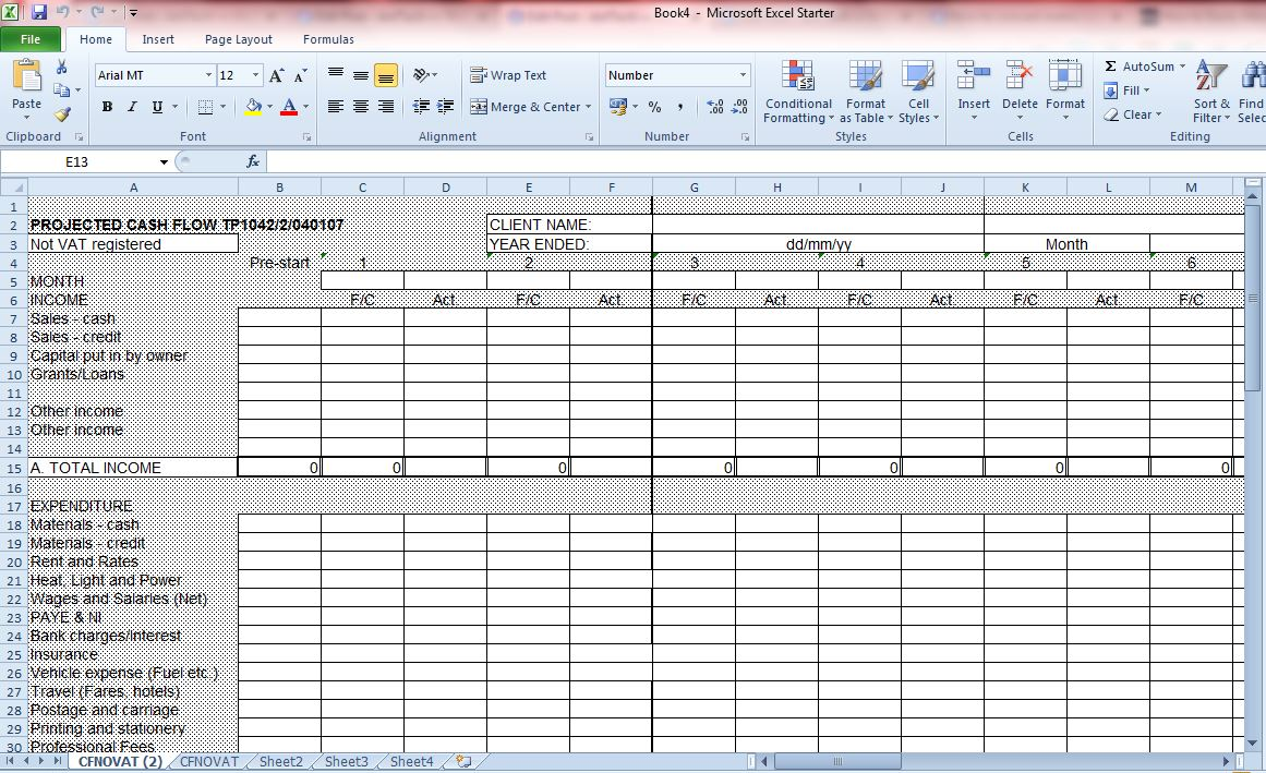 new excel format