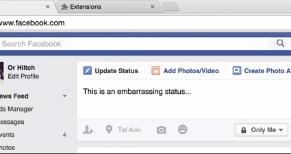 Facebook Undo in Chrome
