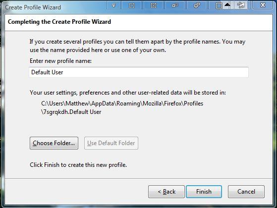 Firefox profile2