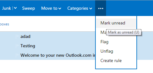 Mark all unread emails as read in Outlook b