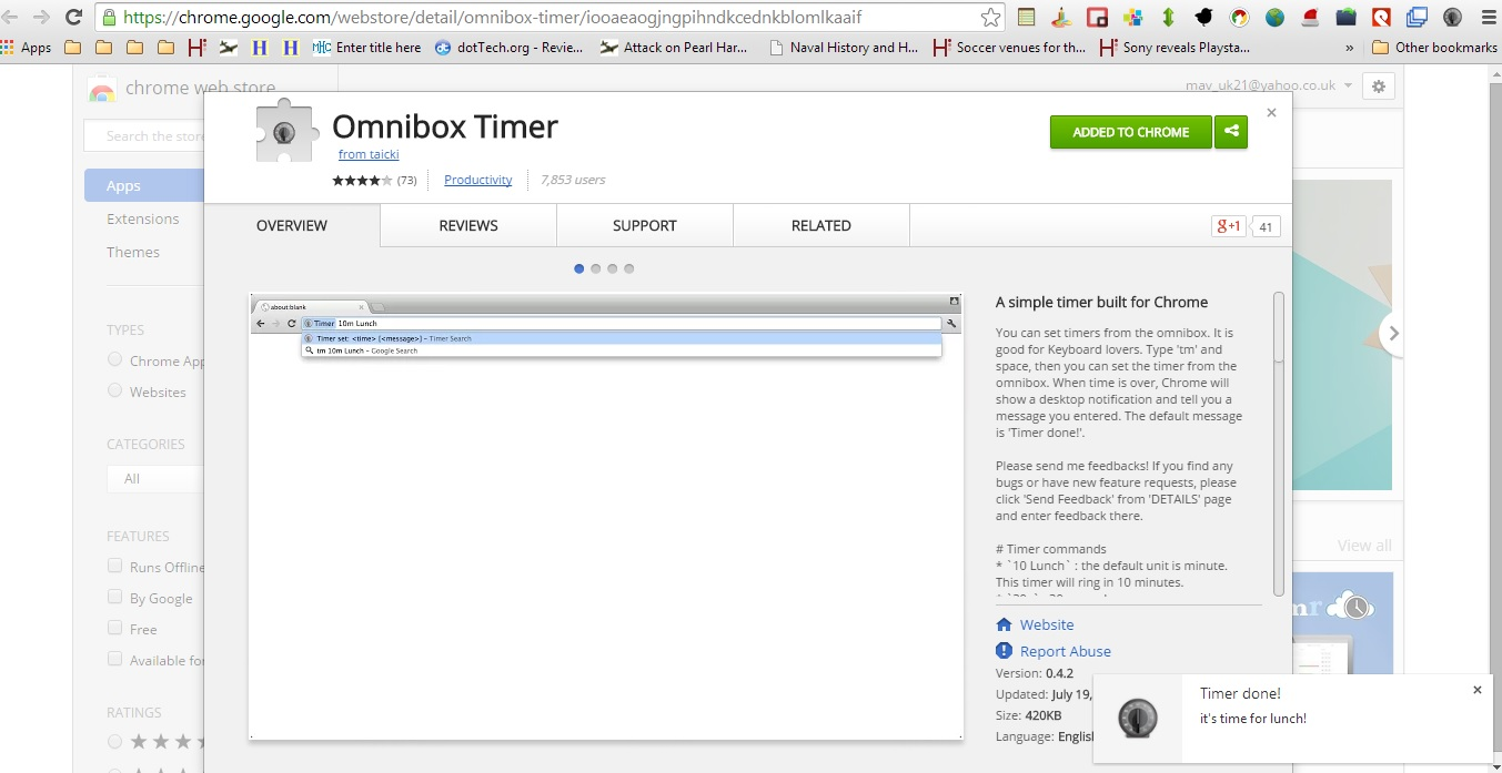 How to set a timer from the address bar in Chrome [Tip] | dotTech