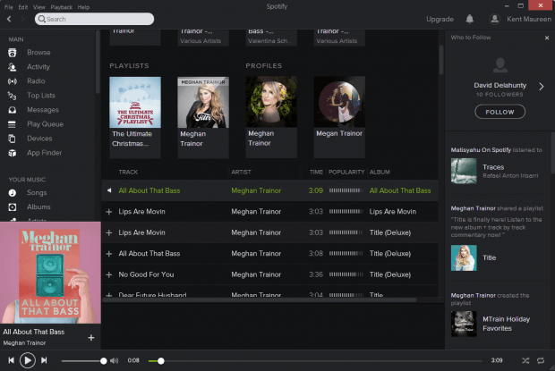 Search in Spotify b