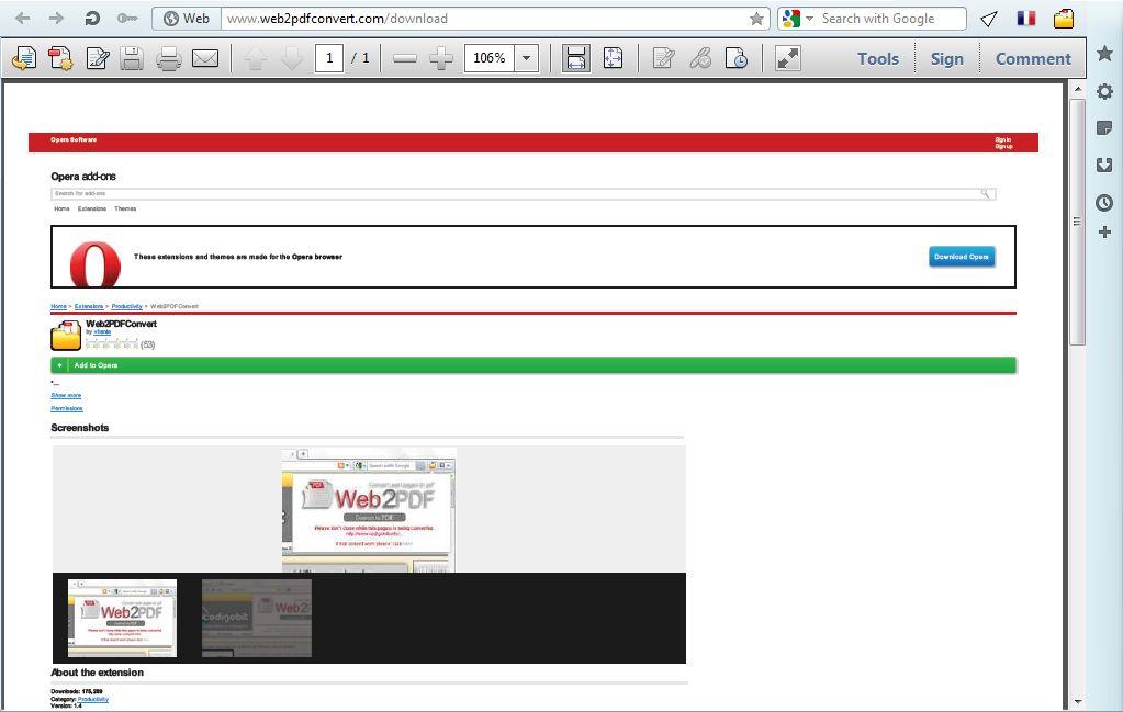 opera как скачать pdf