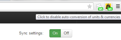 automatically convert currency and units in Chrome d