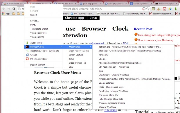 browser clock5