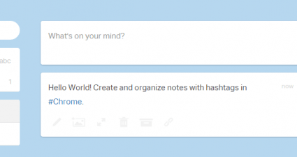 create notes and organize with hashtags c