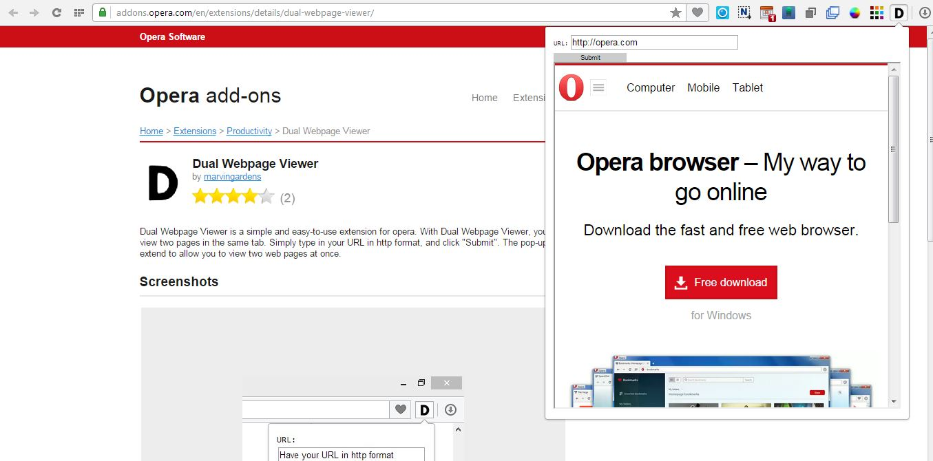 How to open two web pages in the same tab in Opera [Tip] | dotTech