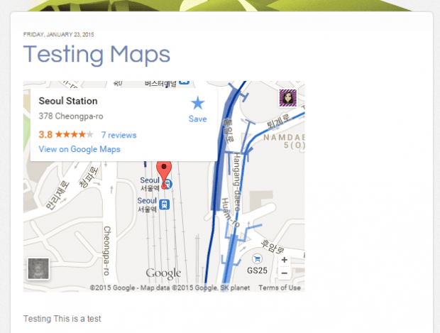 embed a Google Map in Blogger b