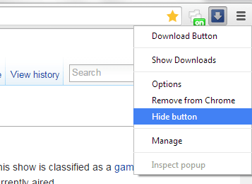 open Download tab via toolbar in Chrome