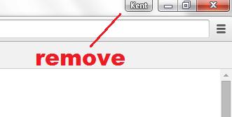 remove new avatar menu in Chrome