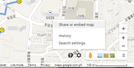 share Google Maps