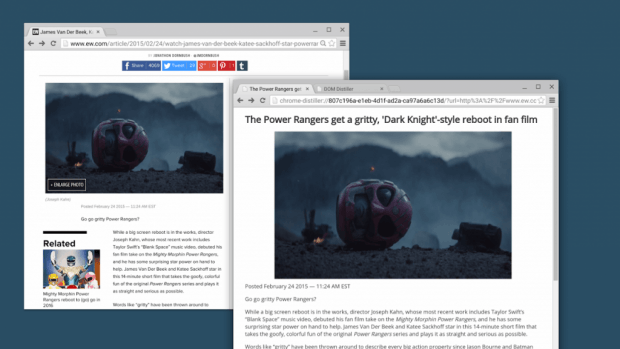 Chrome Reader Mode