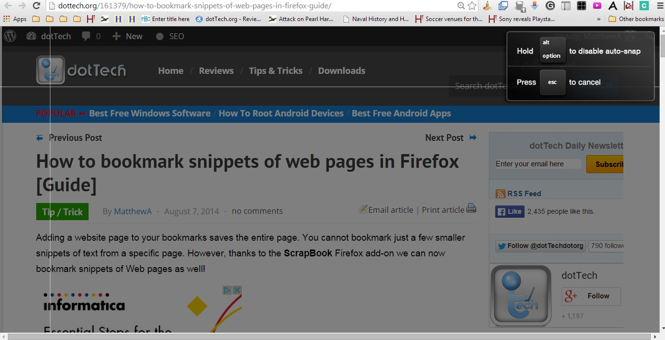 How to use scrapbook in firefox - Clipular3