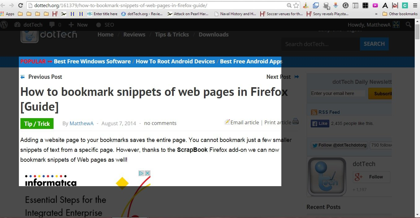 How to use scrapbook in firefox - Clipular4
