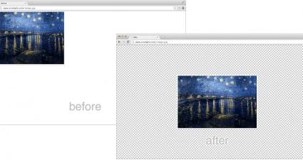 Image to Center Chrome d