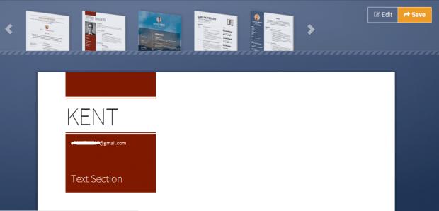 Online CV builder d