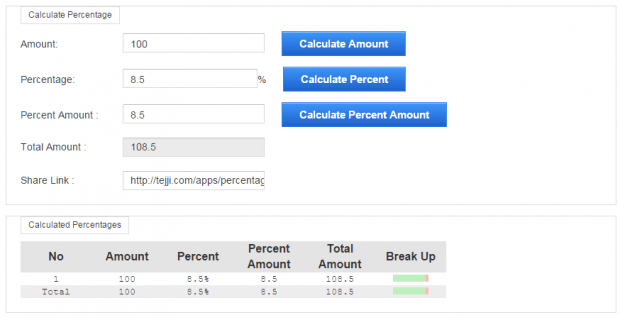 Percentage Calculator Chrome c