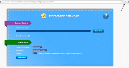 Scan for bookmarks with dead links Chrome