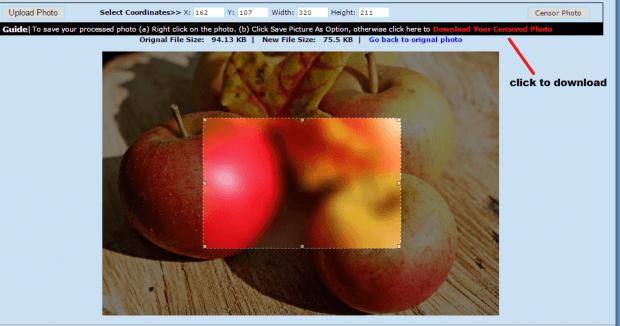 censor photo online b