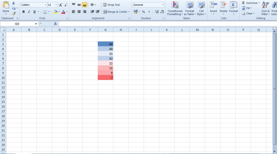 how to add a color key in excel