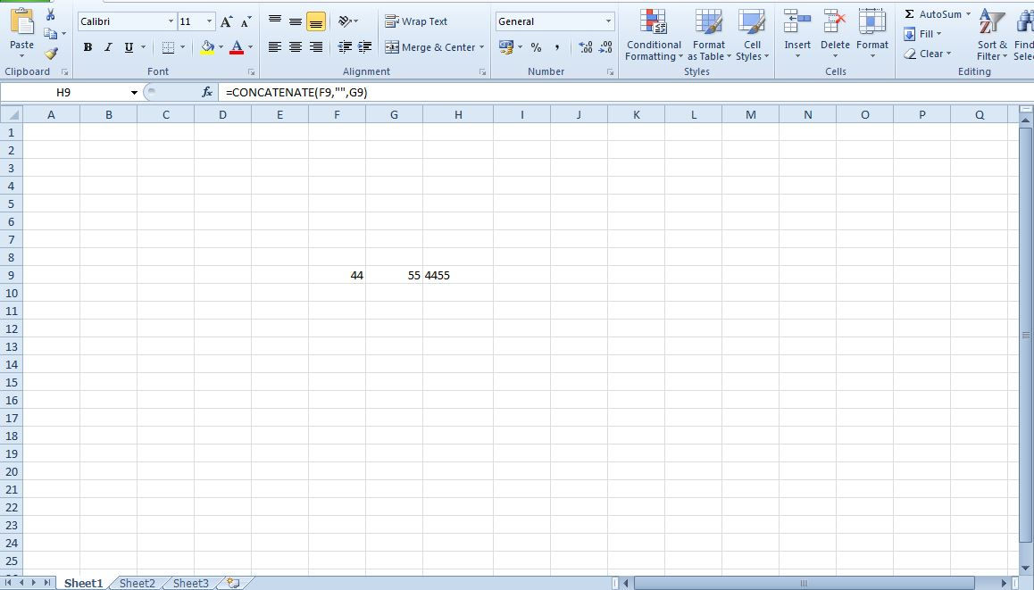 how to add 2 excel cells together