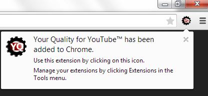 custom playback quality YouTube Chrome