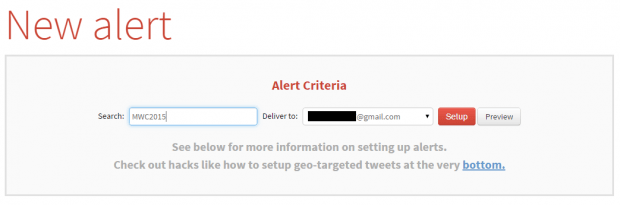 daily email alerts for Twitter