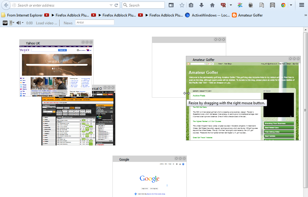 how to add page to desktop