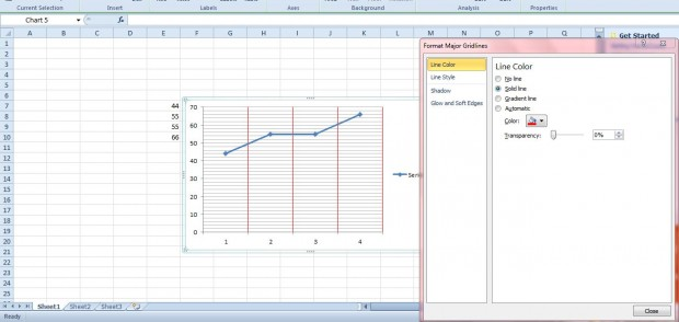 how to put gridlines on graphs in google sheets